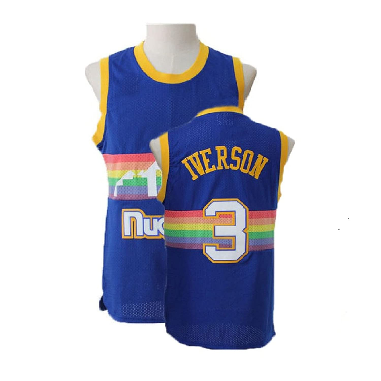 competitive price 06c10 1ef38 Hostraer Youth Allen Retro Jerseys Iverson Athletics Jerseys ...