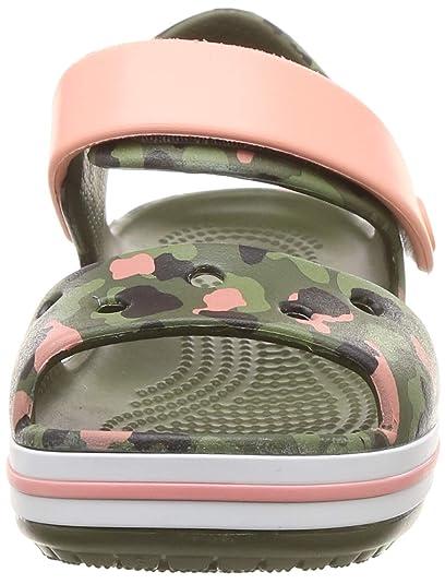Crocs 205765 CROCBAND SEASONAL SANDAL Kids Boys Girls Open Toe Sandals Citrus