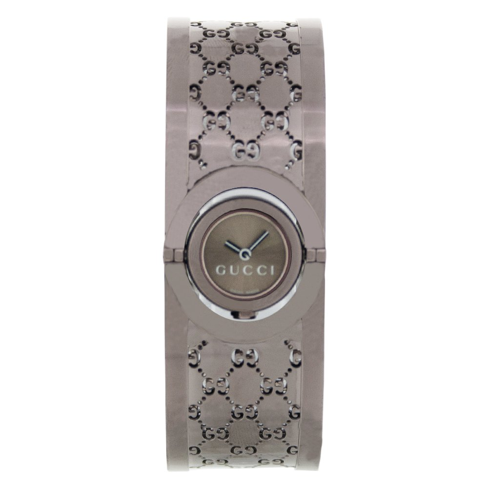 6ca89460b41 Gucci Twirl Quartz Brown Dial Bangle Ladies Watch YA112532  Watch  Gucci   Gucci  Amazon.ca  Watches