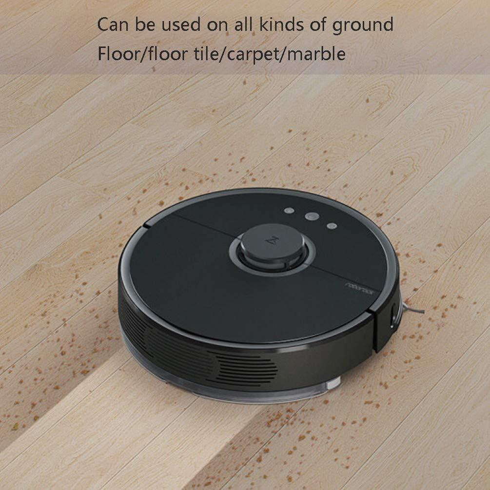 Intelligent Automatique Robot Aspirateur, Mode Contrôles D\'applications L\'-recharge Anti-automne Grande Pource D\'aspiration Pour Poils D\'animaux Sol Dur Cadeau-noir Noir