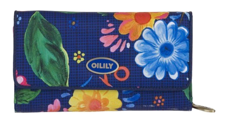 Oilily Russian Rose L - Monedero, diseño estampado, color azul