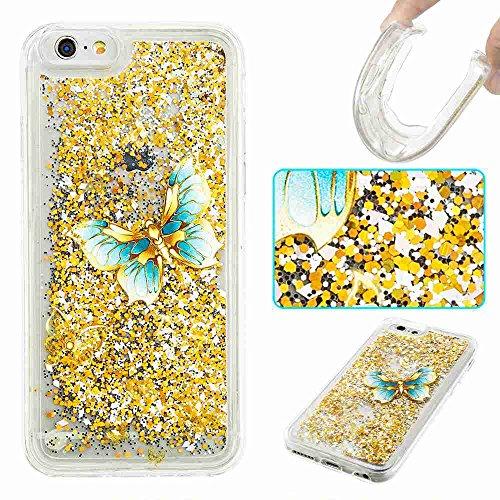 iPhone 6 Plus/ 6S Plus Case, UZER Cute Bling Quicksand Movin