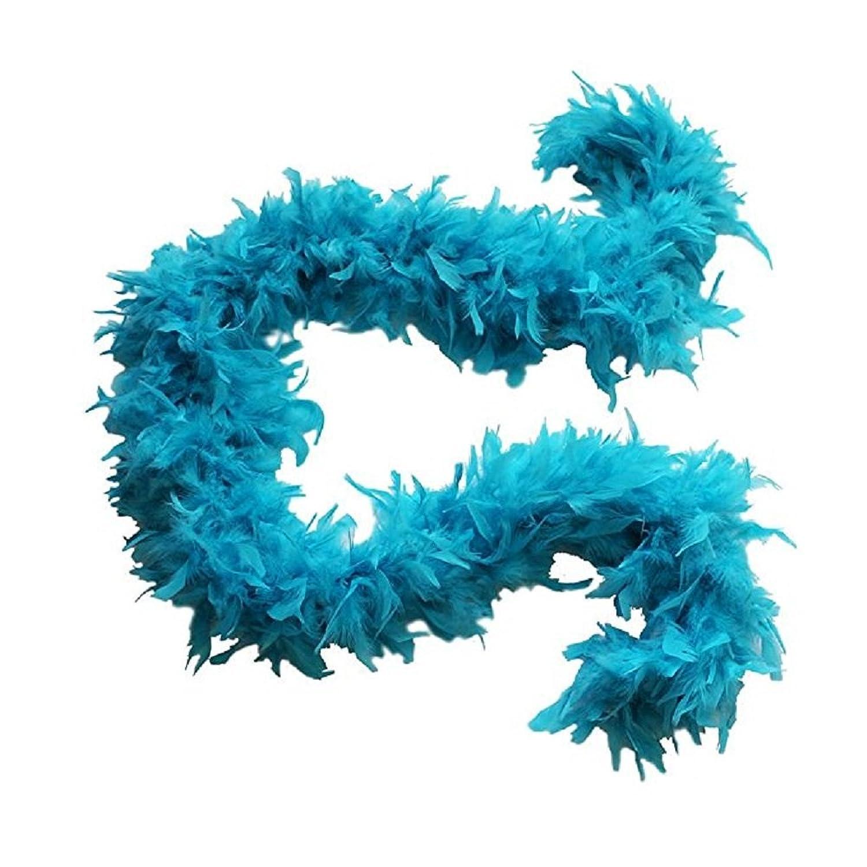 Turquoise Feather Boa Costume Accessory - 6'