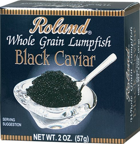 Roland Black Whole Grain  Lumpfish Caviar, 2-Ounce (Pack of - Lumpfish Caviar