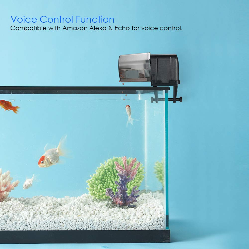 Decdeal Automatic Fish Feeder, Aquarium Tank Feeding Timer Fish Food Dispenser Adjustable Outlet, App Control Voice Control, Compatible with Alexa by Decdeal (Image #4)