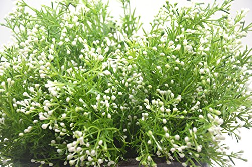 Artificial-Fake-Flowers-Plants-4pcs-Outdoor-UV-Resistant-Faux-Green-Greenery-Fake-Plastic-Flowers-Shrubs-Plants-Indoor-Outside-Hanging-Planter-Home-Garden-Wedding-Dcor-White