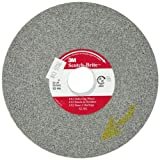 Scotch-Brite(TM) EX2 Deburring Wheel, Silicon Carbide, 6000 rpm, 6 Diameter x 1/2 Width, 1 Arbor, 8S Fine Grit (Pack of 4)