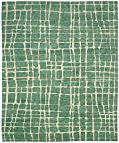 "Nourison Contemporary Rectangle Area Rug 3'9""x5'9"" Turquoise Green Tahoe Modern Collection"