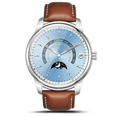 LEMFO Reloj Inteligente LEM1 Pro Super Slim Bluetooth Fitness Tracker Smartwatch con Piel Banda