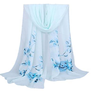 Echarpes et foulards Amlaiworld Femmes Longue écharpe douce Mesdames châle  Écharpe en mousseline de soie ( 6252538968e