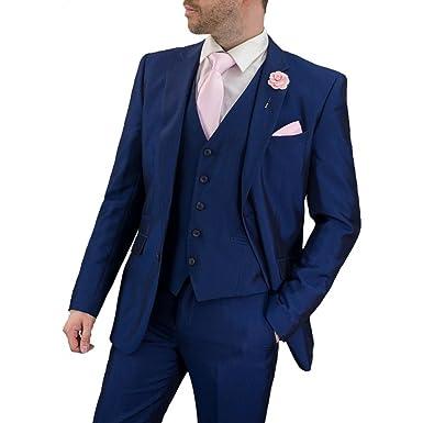 Cavani Hombre Ford traje azul 3 piezas de trabajo, boda o ...