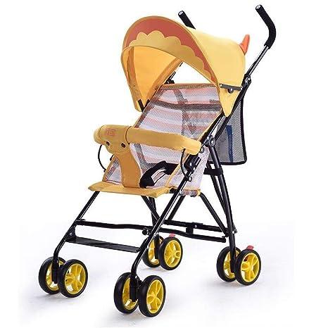 Ambiguity Sillas de Paseo,Super Carro de bebé de Ligero Plegable Infantil Paraguas Coche Verano
