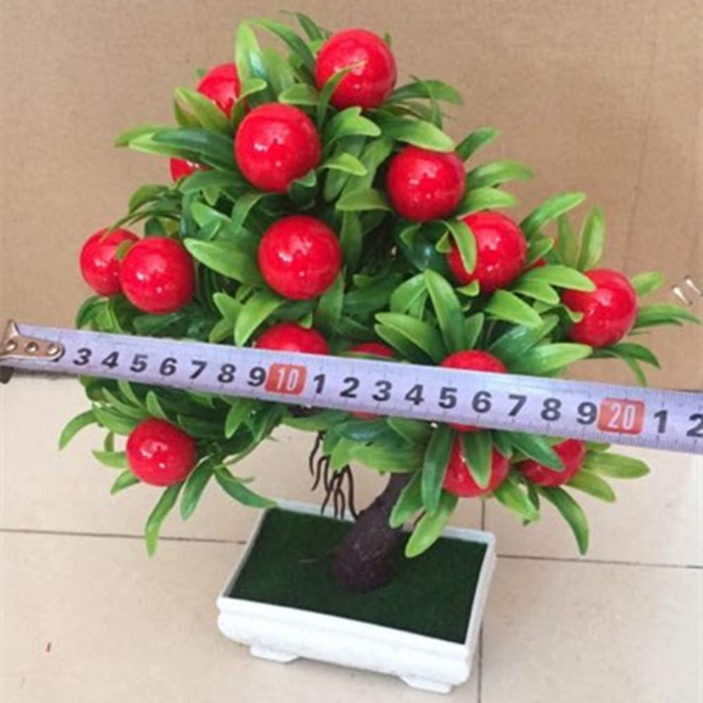 XdiseD9Xsmao K/ünstliche Mini Obstbaum Blumentopf Bonsai Gef/älschte Blume Pflanze Hause Wohnzimmer Garten Schreibtisch B/üro Ornament Dekor