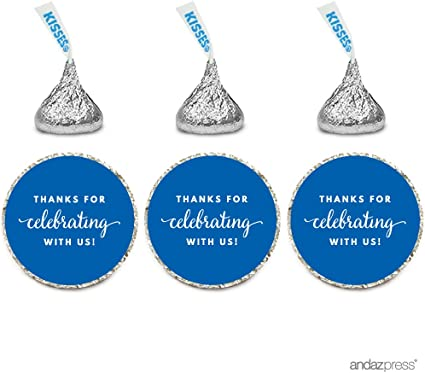 108 Prince Crown Royal Baby Shower Hershey Kiss Favor Stickers Navy Blue Gold