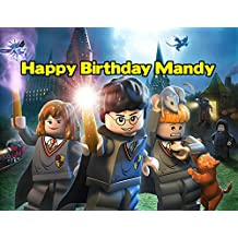 Lego Harry Potter Image Photo Cake Topper Sheet Personalized Custom Customized Birthday Party - 1/4 Sheet - 77656 by Sweet Custom Cakes