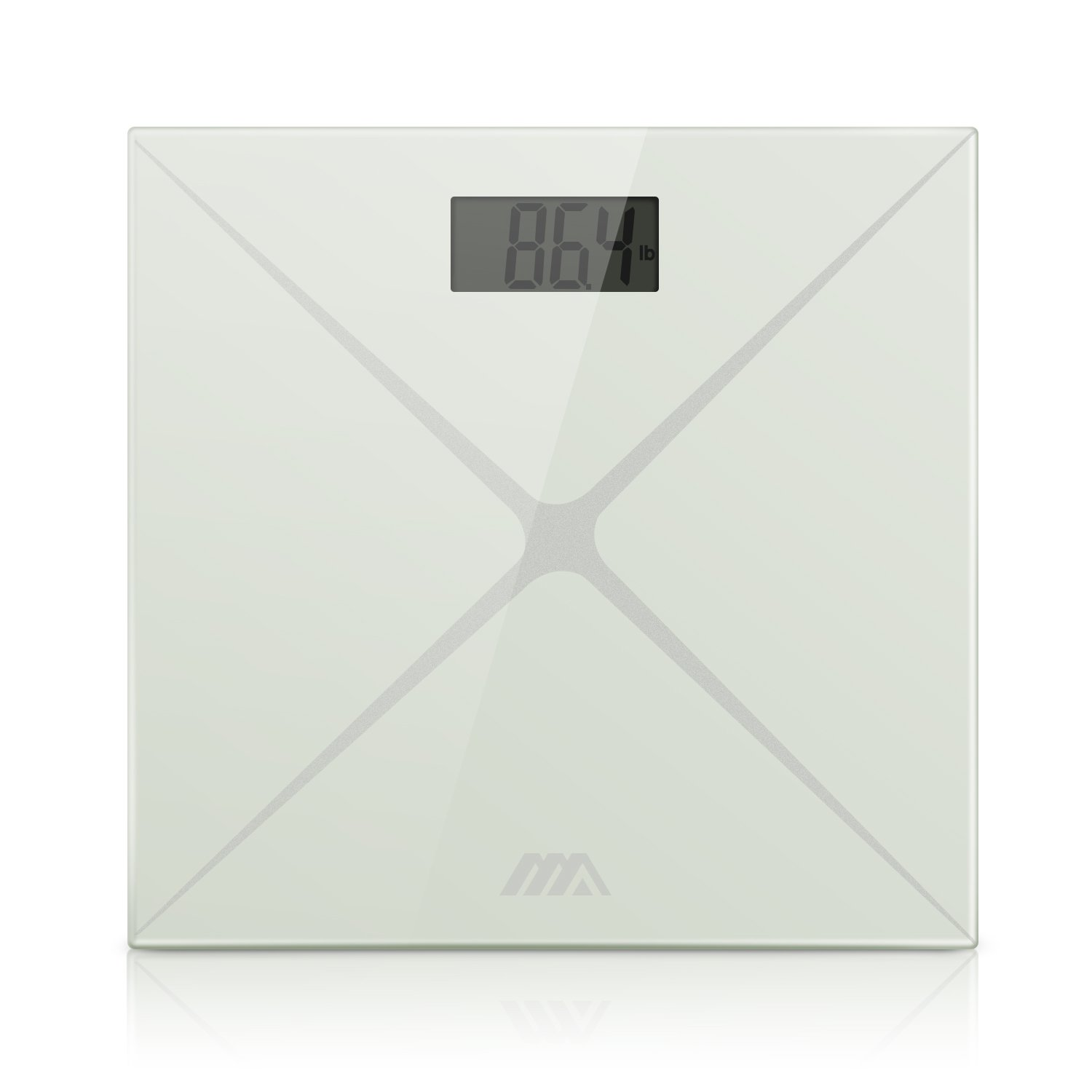 Adoric Digital Body Weight Bathroom Scale, Step-On Technology, Tempered Glass, Large LED Display, Easy to Read and Accurate Weight
