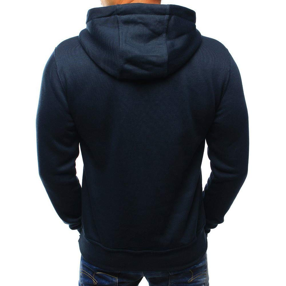 Modaworld Sudadera con Capucha Casual de Manga Larga para Hombre de otoño Invierno Tops Blusa Chándales Outwear Ropa Deportiva Camisas Casual: Amazon.es: ...