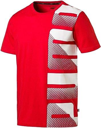 Puma Summer Logo - Camiseta para hombre, color rojo