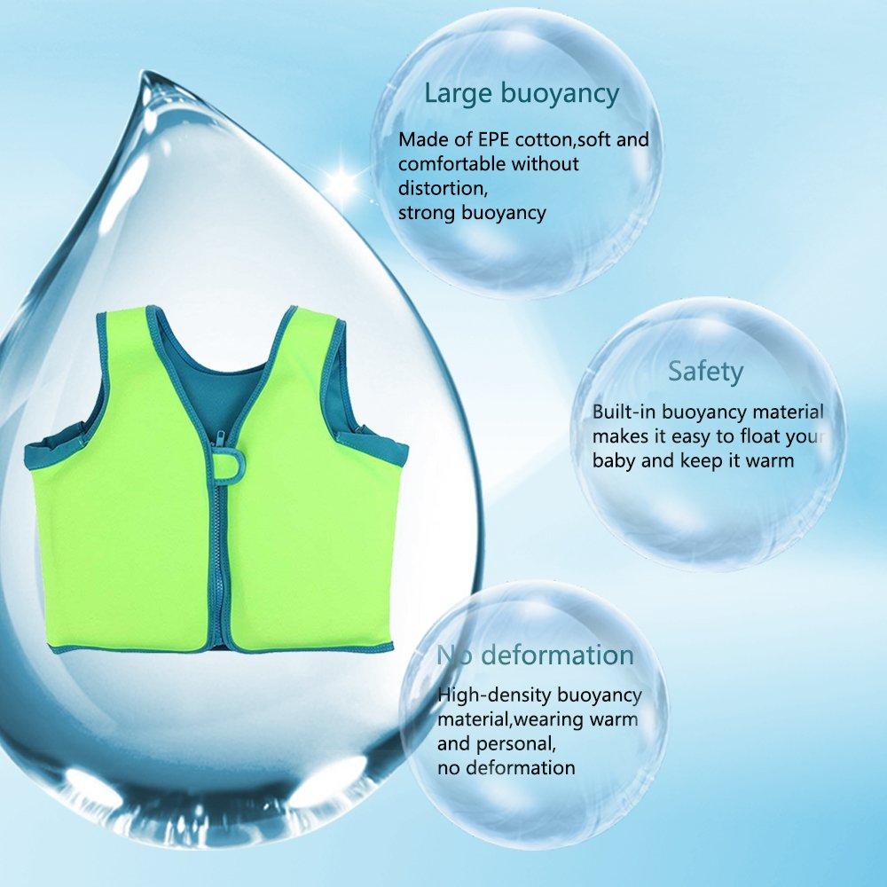 L NEWBEGIN Children Swim Vest Kids Floatation Jackets Toddler Learn-to-Swim for Boys Girls