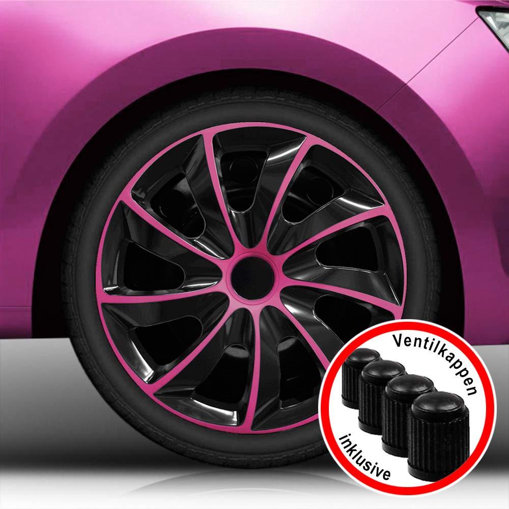 passend f/ür fast alle Fahrzeugtypen 15 Zoll Radkappen AGAT Gr/ün universal Farbe /& Gr/ö/ße w/ählbar!