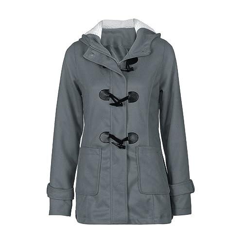 Coversolate Forme a mujeres rompevientos Outwear de lana delgada caliente larga capa chaqueta del fo...