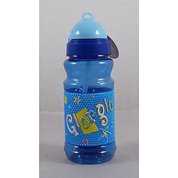 My Name - Botella de plástico de 19 cm - Con nombre Giorgio en relieve