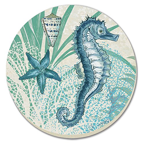 CounterArt Oceana Absorbent Coasters (Set of 4)