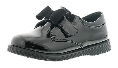 d95ece95a3fd Princess Stardust Bess Girls Kids School Shoes Black - Black - UK Size 6