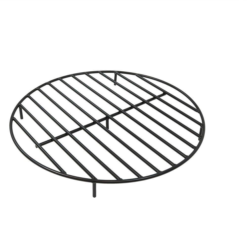Sunnydaze Round Steel Outdoor Fire Pit Grate, 30-Inch