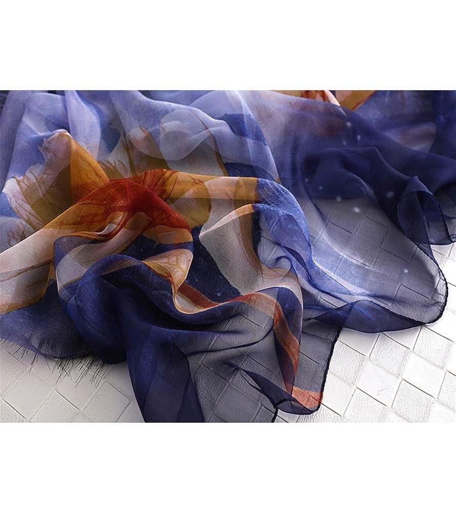 YOJDTD Scarf silk scarf shawl beach towel sunscreen scarf