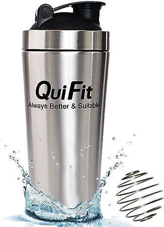 QuiFit Shaker Acero Inoxidable-Proteínas Shaker Botella No Contiene BPA 700ml