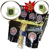 3dRose Beverly Turner St Patrick Day Design - Words, Faith, Luck, Blessed, Leaf, Irish, Shamrock, Saint Patrick - Coffee Gift Baskets - Coffee Gift Basket (cgb_282043_1)