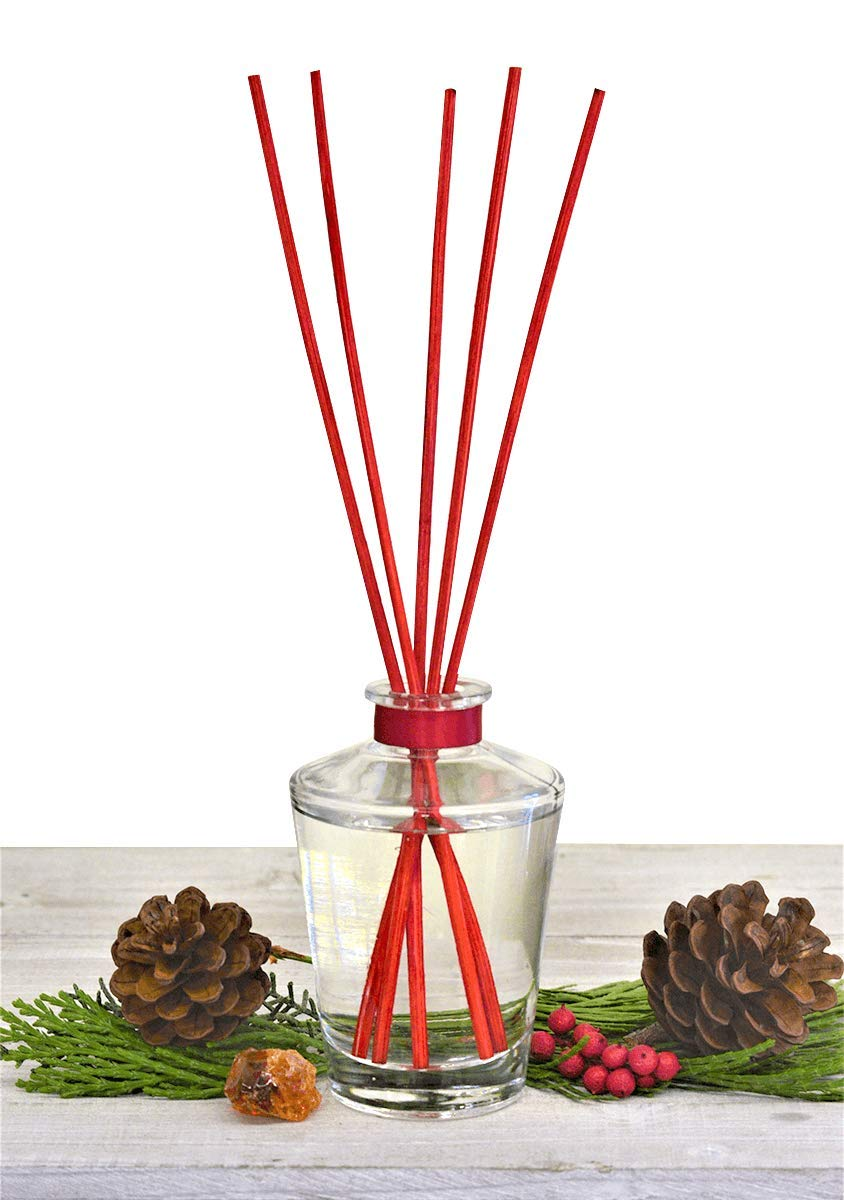 Manu Home Holiday Diffuser ~ The Scent of Cedar, Fresh-Baked Notes of Ceylon Cinnamon & Clove. Our Natural Reeds Produce a Light, Delicate Fragrance Drawn from Pure Essential Oils of botanicals~ 4oz