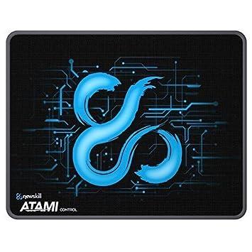 Newskill Atami Control Tamaño L- Alfombrilla gaming profesional (borde cosido, superficie control microperforada), negro [España]