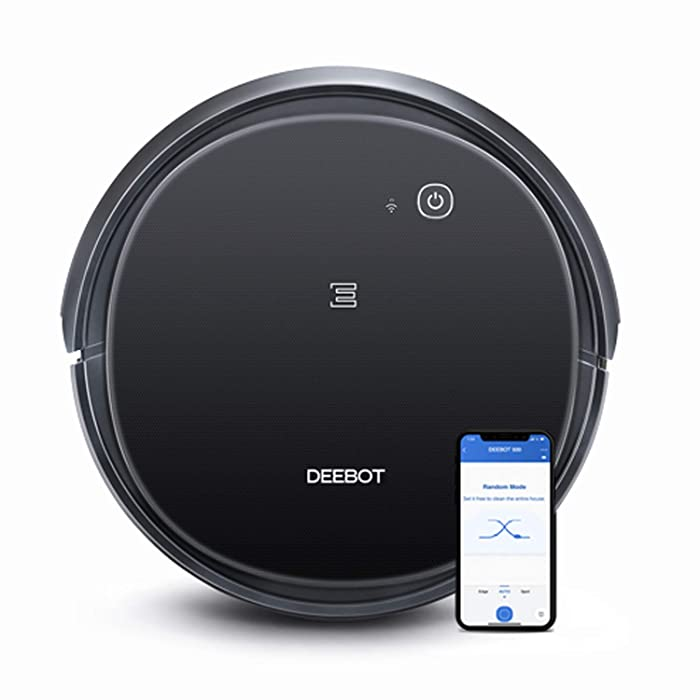 ECOVACS Deebot 500 Robots Vacuum Cleaner with Robotic Smart APP Control, Max Mode Suction Power, 3-Stage Cleaning System Compatible with Alexa (Black)