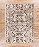 Yorkshire Brown Sarouk Vintage Modern Casual Traditional 5x7 ( 5'3'' x 7'3'' ) Area Rug Thick Soft Plush Shed Free