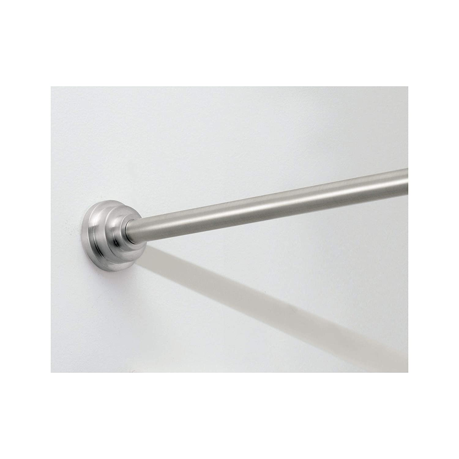 Interdesign Small Brushed Stainless Steel Astor Shower Curtain