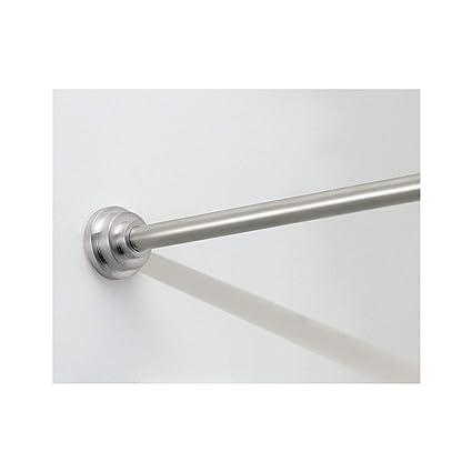 InterDesign Astor Metal Tension Adjustable Customizable Curtain Rod For Bathtub Shower Stall Closet
