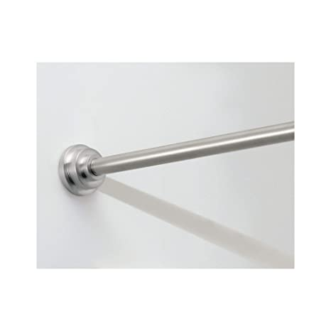Small Shower Curtain Rod.Interdesign Small Brushed Stainless Steel Astor Shower Curtain Tension Rod