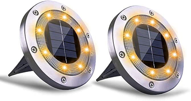 1 Pack Solar Powered Ground Lights,LED Solar Path Lights Outdoor Waterproof Garden Landscape Lights for Yard Walkway Patio Lawn Driveway Decoration