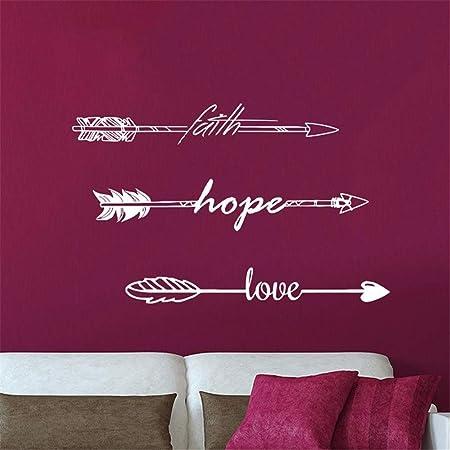 Stickers Muraux Arbre Chocolat Citations Foi Espoir Amour Amour