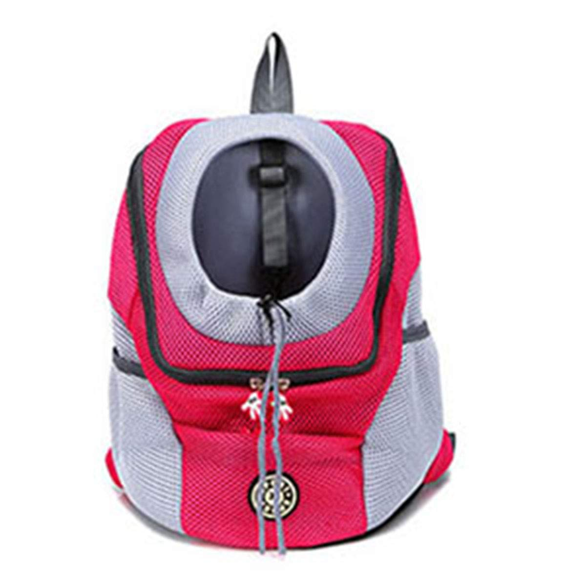 Red 36x45x21 cm Red 36x45x21 cm PETFDH New Out Double Shoulder Portable Travel Backpack Outdoor Pet Dog Carrier Bag Pet Dog Front Bag Mesh Backpack Head Red 36x45x21 cm