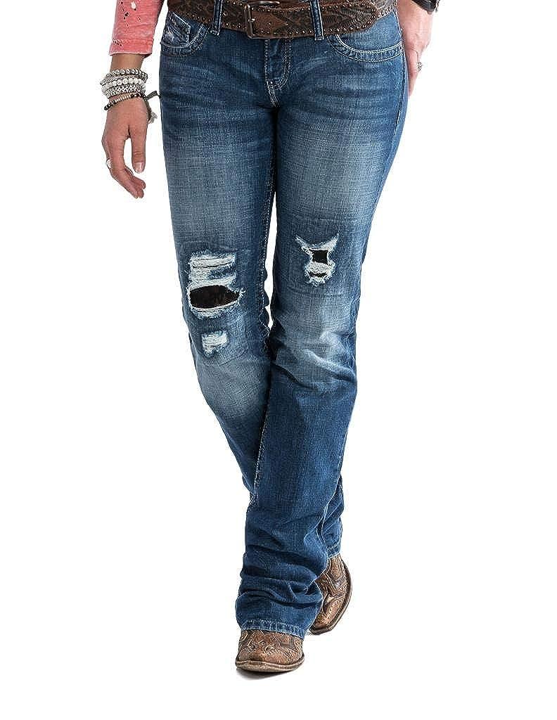 e86639e41e8 Cruel Girl Western Jean Women Abby Slim Bootcut Stonewash CB12254071 at Amazon  Women s Jeans store