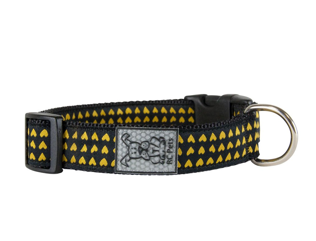 Heart of gold X-Small Heart of gold X-Small RC Pet Products 5 8 Inch Adjustable Dog Clip Collar, X-Small, Heart of gold