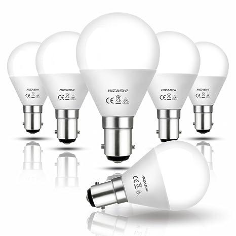 Hizashi 7W Bombilla Led G45, 650 lúmenes, B15 Lámpara LED, 7W equivalente a