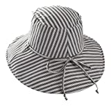 Summer Sun Hat for Women Fashion Beach Cotton Hat Foldable Brimmed Bucket Hat