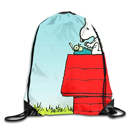 526083fe33568a Image Unavailable. Image not available for. Color  Meirdre Unisex Snoopy  Working Sports Drawstring Backpack Gym Bag