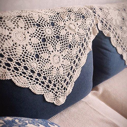 Yazi 004452 Yazi Handmade Crochet Sofa Doily Cotton Lace