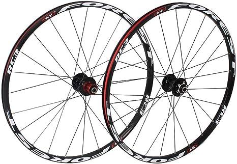 ZNND 26 Pulgadas MTB Bike Ruedas De Ciclismo, Bicicleta De Montaña CNC Rodamientos Sellados Freno De Llanta De Disco Compatible 8 9 10 11 Velocidad (Color : White): Amazon.es: Deportes y aire libre