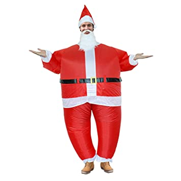 DMMASH Adulto Inflable Santa Claus Traje De Navidad Cosplay ...